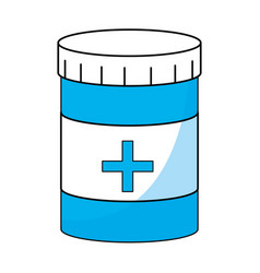 Medicine bottle symbol vector