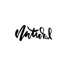 modern brush lettering natural handdrawn vector image
