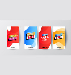 modern fluid mobile sale banners template vector image