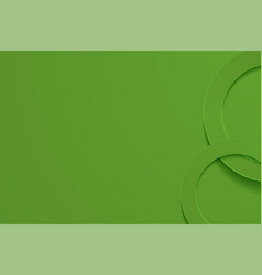 Modern olive drab backgrounds 3d circle papercut vector