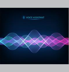 Modern sound wave equalizer music vector