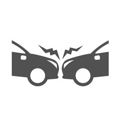 monochrome simple road accident icon flat vector image