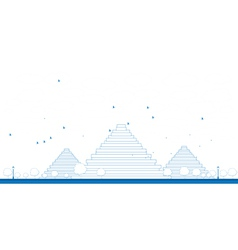 Outline pyramids in giza vector