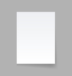 piece of paper on a gray background vector image