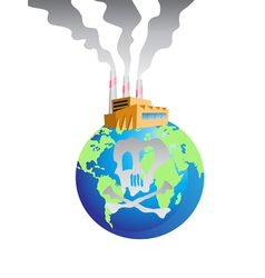 polluted earth vector image