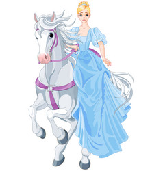 Princess is riding a horse vector