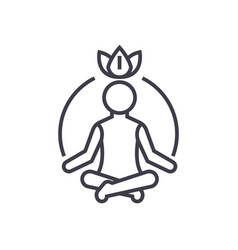 Relaxation meditationmindfulnessconcentration vector