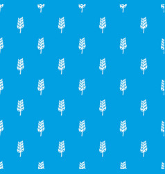 ripe spica pattern seamless blue vector image