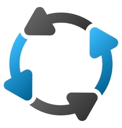 Rotate Cw Gradient Icon vector