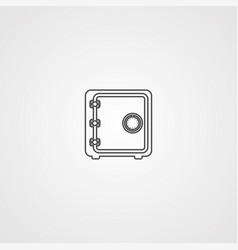 safe box icon sign symbol vector image