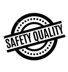 Safety Quality rubber stamp vector image