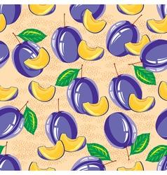 seamless pattern of ripe plum vector image