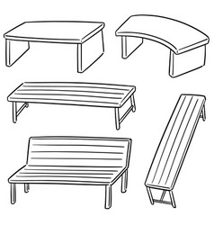 Set of bench vector