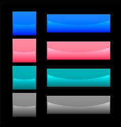 shiny web buttons set design vector image
