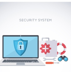 System security background vector image