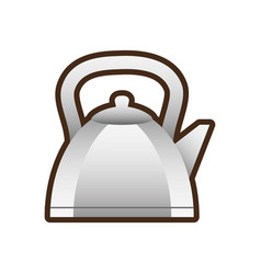 teapot hot beverage icon vector image