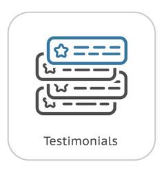 Testimonials line icon vector