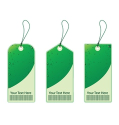 Three eco shopping tags with bubbles vector