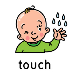 Touch icon one five senses vector