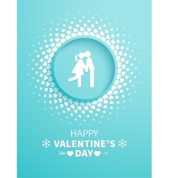 Valentines Day card with couple vector image