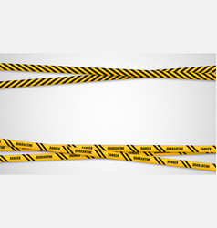 warning yellow ribbons dangerous stripes banner vector image
