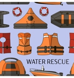 water rescue set pattern vector image