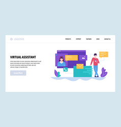 web site design template online customer vector image