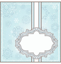 Winter background with ornamental frame vector image