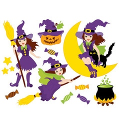 Witches - Halloween Set vector