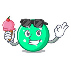 with ice cream circle character cartoon style vector image