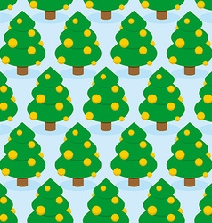 Christmas Tree seamless pattern Holiday wood vector image vector image