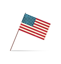 grunge styled flag of usa vector image