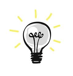 Hand drawn light bulb vector image vector image
