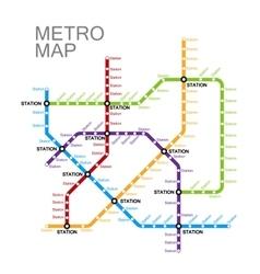 metro or subway map design vector image