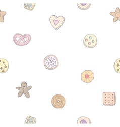 Seamless pattern of fancy cookies vector image vector image