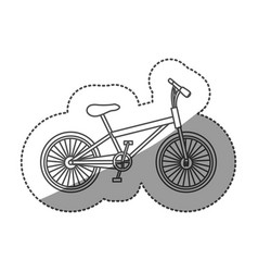 Sticker monochrome contour of sport bike in white vector