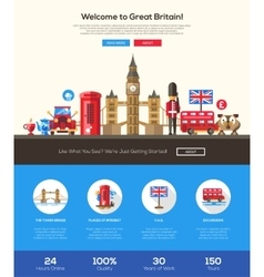 Traveling to Great Britain website header banner vector image vector image