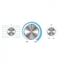 volume balance knobs vector image