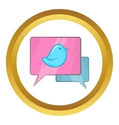 Bird on a speech bubble icon vector image