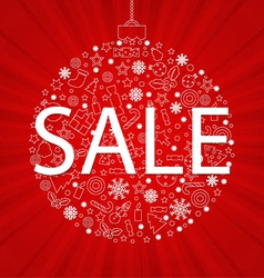 Christmas Discount Poster vector image