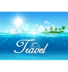 Enjoy Travel poster Summer vacation banner vector image