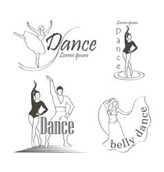 Set of dancing emblems vector image vector image