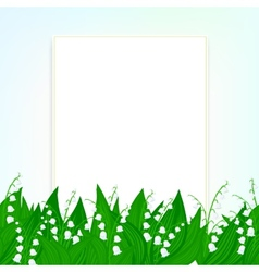 Spring card background with lily of the valley vector image vector image