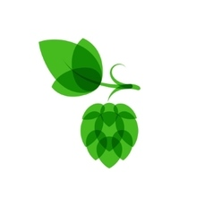 Hops minimalistic color overlay style vector image