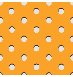 Polka dot colorful painted seamless pattern vector image vector image