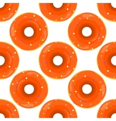 Donut Seamless Background Texture Pattern vector image vector image