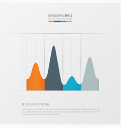 graph and infographic design orange blue gray vector image