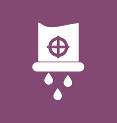 Icon water pipe and drops vector