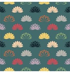 lotus wallpaper blue vector image