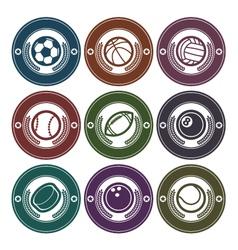 Sport Balls Logo Emblems vector image